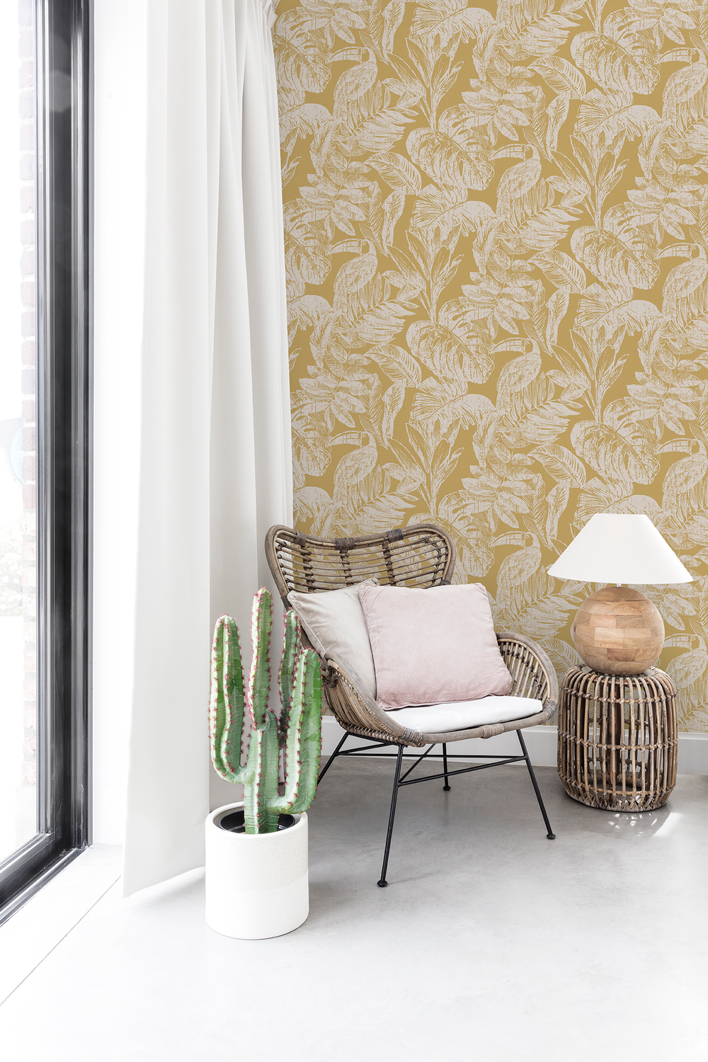 Botanical Tropical Wallpaper 7 Leaf And Plant Inspired